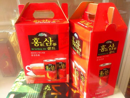 Nước tăng lực hồng sâm Hàn Quốc- cung cấp năng lượng dồi dào