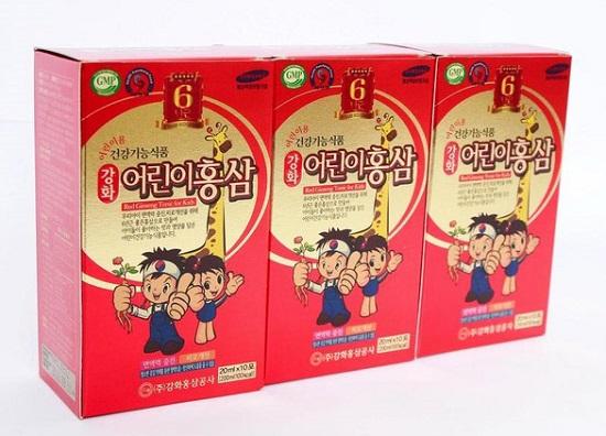 Hồng sâm baby 20 ml x 30g Hàn Quốc
