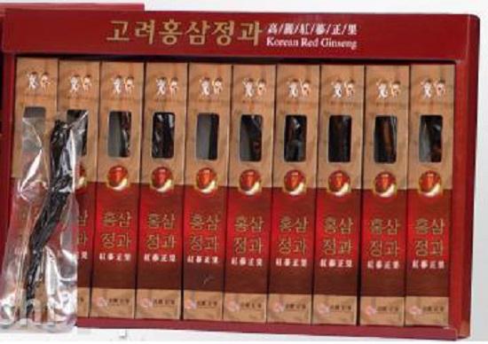 Hồng sâm củ tẩm mật ong hộp 10 củ