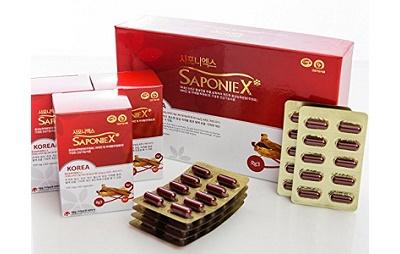 Viên hồng sâm Saponie X hộp 180 viên nổi tiếng Hàn Quốc