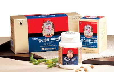 Viên nén hồng sâm KGC lọ 180 viên Hàn Quốc nguyên chất 100%