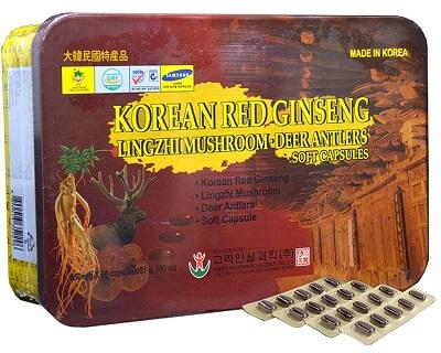 Viên sâm nhung linh chi Hàn Quốc Bio Apgold hộp 60 viên