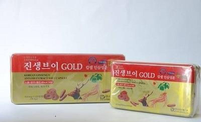 Viên sâm nhung linh chi Hàn Quốc Gold Dongwon hộp 120 viên