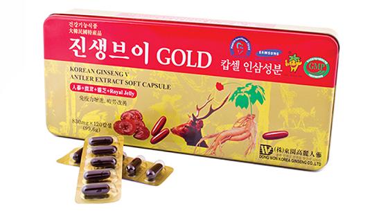 Viên sâm nhung linh chi Hàn Quốc Gold Dongwon