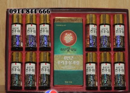 Nước hồng sâm 12 chai và trà sâm