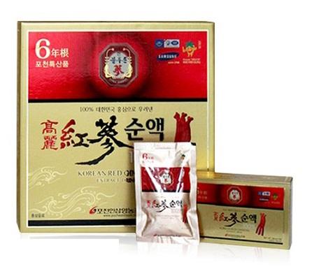 Korean Red Ginseng Extract Drink được đánh giá cao về công dụng chất lượng