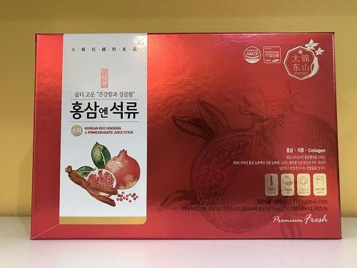 nước hồng sâm lựu collagen hàn quốc