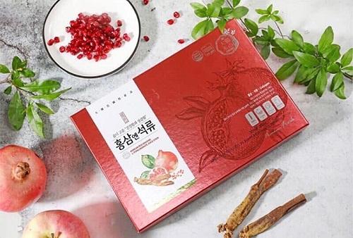 nước hồng sâm lựu collagen an toàn cho sức khỏe người dùng