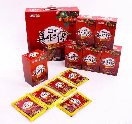 nước hồng sâm táo đỏ royal gold hộp 30 gói của hàn quốc