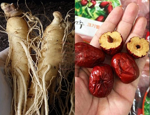 nhân sâm và táo đỏ - thảo dược tự nhiên quý hiếm của hàn quốc