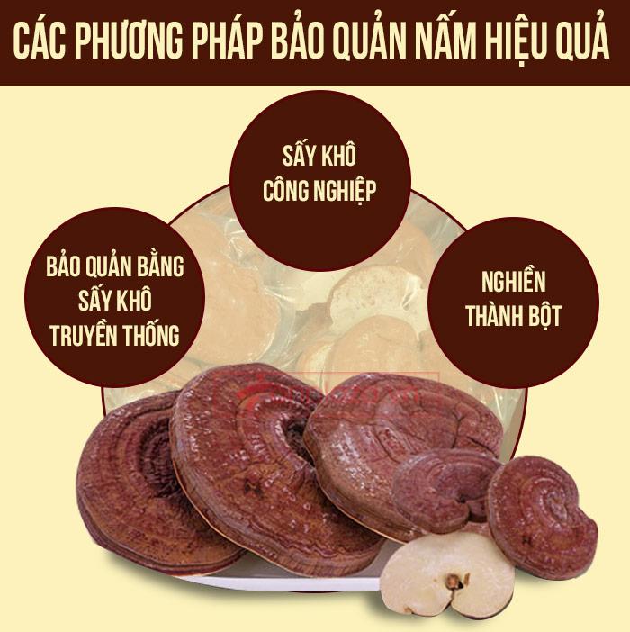 phương pháp bảo quản nấm linh chi