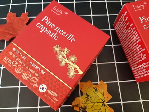 tinh dầu thông đỏ hàn quốc pine needle capsule edally 180 viên