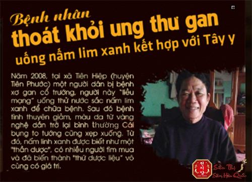 Nấm lim xanh nổi tiếng sau trường hợp một bệnh nhân ở Quảng Nam