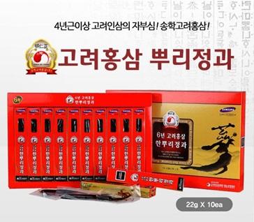 hồng sâm củ tẩm mật ong songhak thuộc thương hiệu hàng đầu hàn quốc
