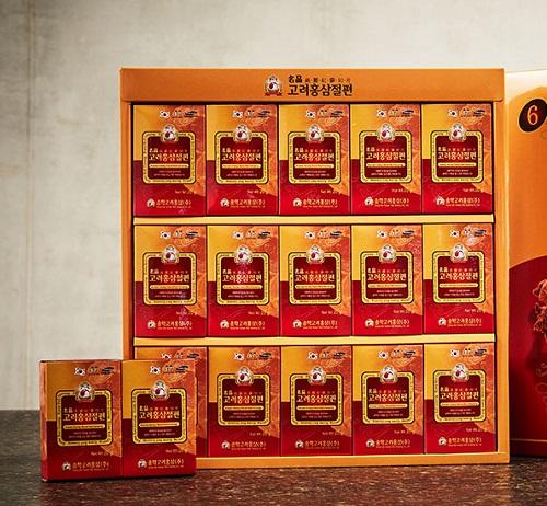 Hộp 15 gói sâm cắt lát tẩm mật ong songhak hàn quốc