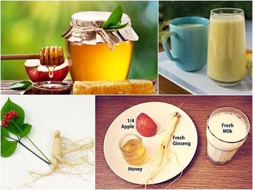 cách dùng nhân sâm kết hợp với sữa