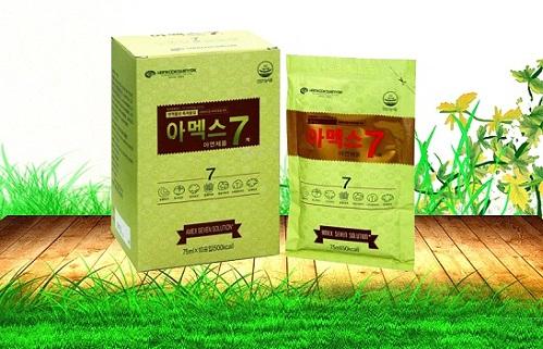 nước sâm và nấm amex 7 được chiết xuất từ thành phần tự nhiên an toàn