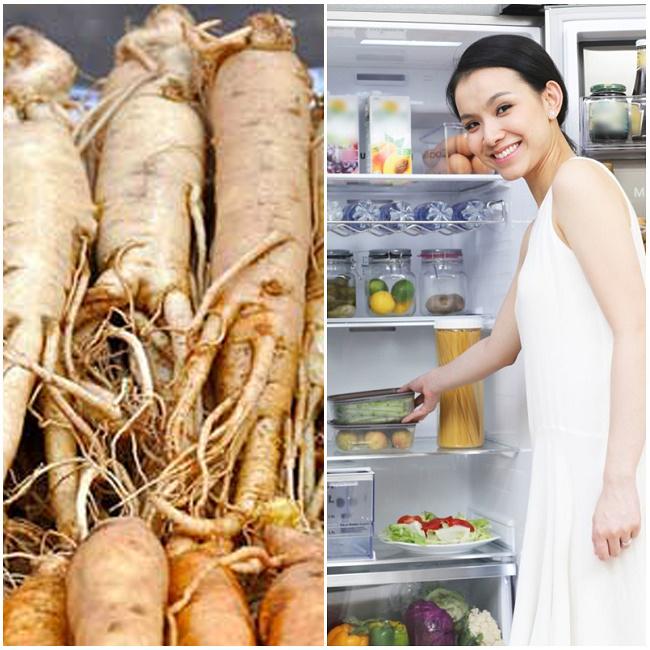 Bảo quản sâm tươi bằng cách để trong tủ lạnh
