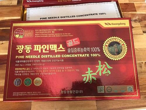 tinh dầu thông đỏ kwangdong an toàn cho sức khỏe người dùng