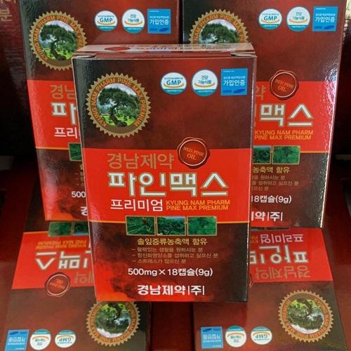tinh dầu thông đỏ kyungnam được bào chế từ thành phần chính là là cây thông đỏ