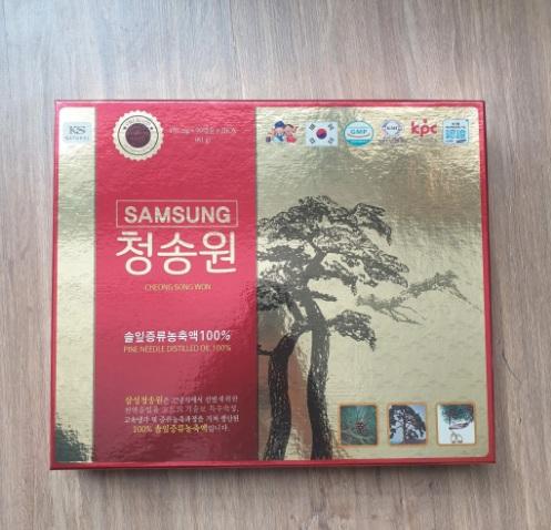 tinh dầu thông đỏ chính phủ cheong song won 180 viên