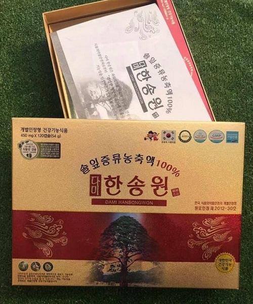 tinh dầu thông đỏ dami hansongwong