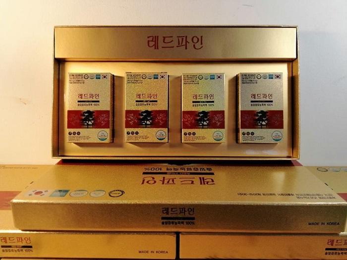 Tinh Dầu Thông Đỏ Hàn Quốc Red Fine Hộp 120 Viên