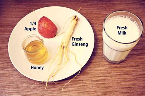 Cách chế biến sâm tươi sữa