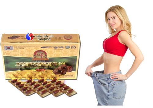 tác dụng giảm cân với viên linh chi hàn quốc