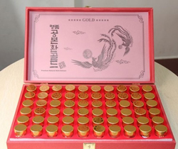 An cung ngưu hoàng hoàn Hàn Quốc hộp gỗ đỏ loại 60 viên
