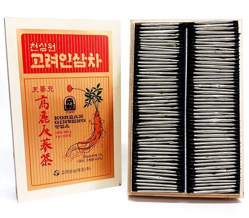 trà hồng sâm hộp gỗ 100 gói