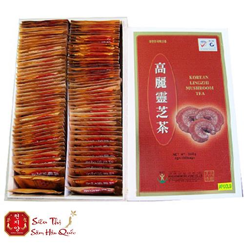 Trà linh chi Hàn Quốc hộp gỗ