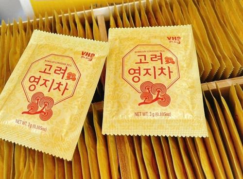 gói trà linh chi hòa tan korean linhzhi tea hàn quốc 3g