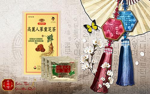 Trà nhân sâm linh chi Hàn Quốc cao cấp