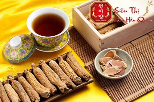 trà sâm thơm ngon lại tăng cường sức khỏe