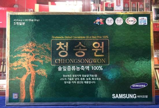 viên tinh dầu thông đỏ hàn quốc cheongsongwon
