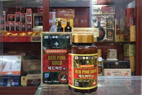 viên tinh dầu thông đỏ Red Pine Gold hàn Quốc